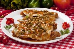 Pollo Parmigiana con queso Imagen de archivo
