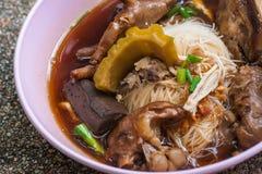 Pollo piccante della tagliatella tailandese Fotografie Stock