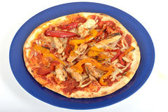 Pollo Piccante Italian Style Fast Food Pizza Royalty Free Stock Photos