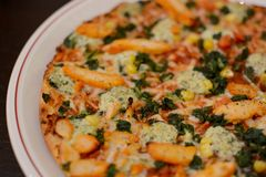 Pollo Pizza Royalty Free Stock Images