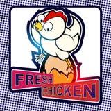 Pollo que se sienta en el huevo stock de ilustración