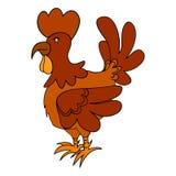 Pollo rosso Fotografia Stock