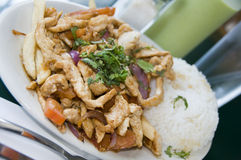 Pollo saltado Royalty Free Stock Image