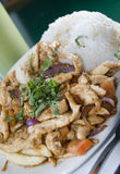 Pollo saltado Stock Photos