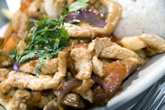 Pollo saltado Royalty Free Stock Photos