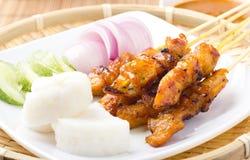 Pollo Satay fotografia stock