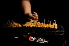 Pollo satay Fotografía de archivo libre de regalías