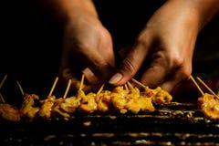 Pollo satay Foto de archivo libre de regalías