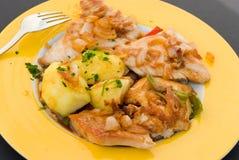 Pollo seno-arrostito Fotografia Stock