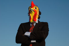 Pollo sicuro di affari Fotografie Stock