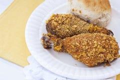 Pollo sin piel frito horno Fotos de archivo