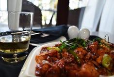 Pollo srilanqués del aguardiente de arroz y del diablo Fotos de archivo libres de regalías