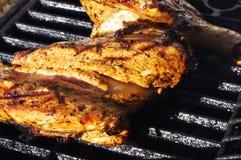 Pollo su una griglia Immagine Stock Libera da Diritti