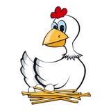 Pollo su una presa Fotografia Stock