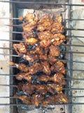 Pollo sul BBQ fotografia stock libera da diritti