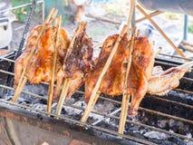 Pollo sulla griglia Fotografie Stock