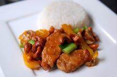 Pollo tailandés con los anacardos Imagenes de archivo