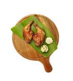 Pollo tailandese grigliato con l'erba Immagini Stock Libere da Diritti