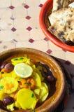 Pollo Tajine en Marruecos Fotografía de archivo