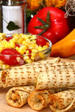 Pollo Taquitos Fotografia Stock