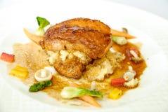 Pollo Teriyaki con la verdura Fotografia Stock