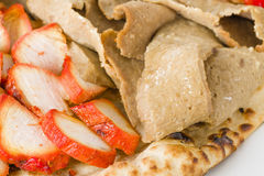 Pollo Tikka & carne di Donner Fotografia Stock