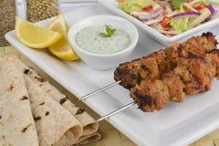 Pollo Tikka Kebab Immagini Stock Libere da Diritti
