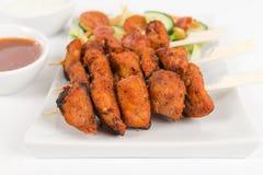 Pollo Tikka Kebab Fotografia Stock