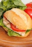 Pollo in un panino Fotografie Stock Libere da Diritti