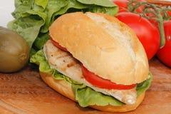 Pollo in un panino Immagini Stock Libere da Diritti