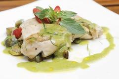 Pollo verde dulce del curry Foto de archivo