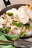 Pollo y arroz Imagen de archivo