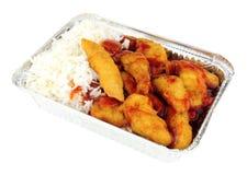 Pollo y arroz estropeados agridulces chinos Fotografía de archivo libre de regalías