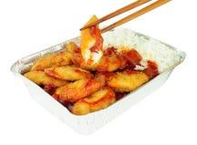 Pollo y arroz estropeados agridulces chinos Imagenes de archivo