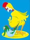 Pollo y cocodrilo Foto de archivo libre de regalías