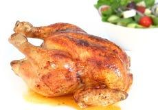 Pollo y ensalada de carne asada Foto de archivo libre de regalías