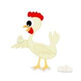 Pollo y huevo de Pascua Imagenes de archivo