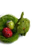 Pollo y huevos imagen de archivo