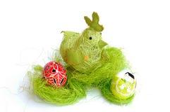 Pollo y huevos 2 foto de archivo libre de regalías