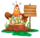 Pollo y huevos libre illustration