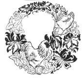 Pollo y pollo Imágenes de archivo libres de regalías