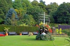 Pollockhausgärten blühen Boot Pollockpark Glasgow Stockfotografie