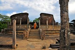 Pollonaruwa Wattadage stock afbeeldingen