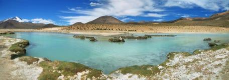 Polloquere Hot Springs em Salar de Surire Imagem de Stock Royalty Free