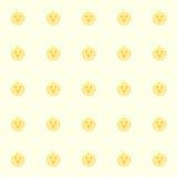 Pollos del bebé de Cutie con el fondo amarillo imagenes de archivo