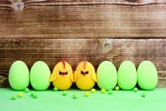 Pollos del huevo de Pascua Imágenes de archivo libres de regalías
