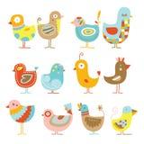 Pollos lindos ilustración del vector