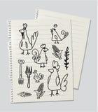Pollos y gallinas Fotos de archivo