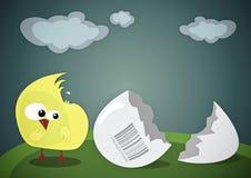 Polluelo confuso stock de ilustración