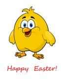 Polluelo de Pascua de la historieta feliz pequeño